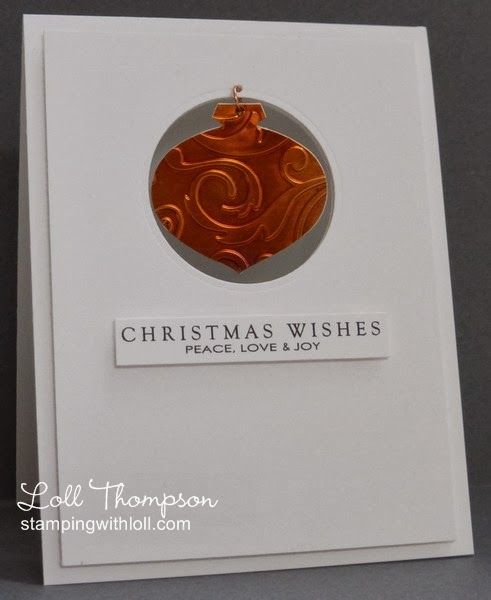 Stamping with Loll: Copper Ornament
