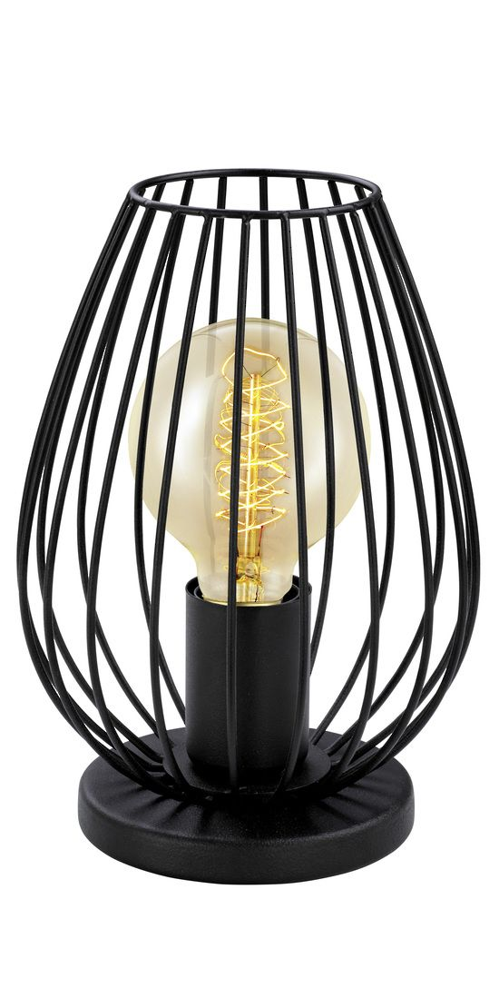 NEWTOWN 1L TABLE LAMP BLACK - Table Lamp Modern - Table Lamps - Lighting Direct
