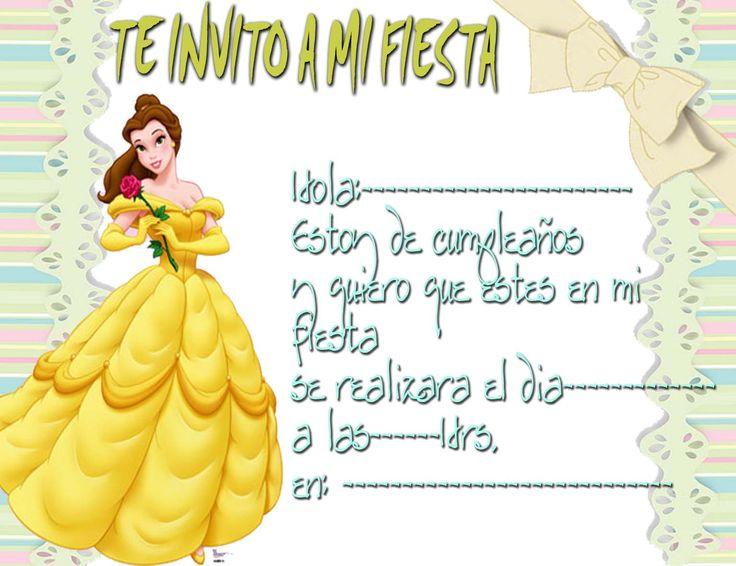 Tarjetas De Cumpleaños De Princesas Para Imprimir 11 en HD Gratis