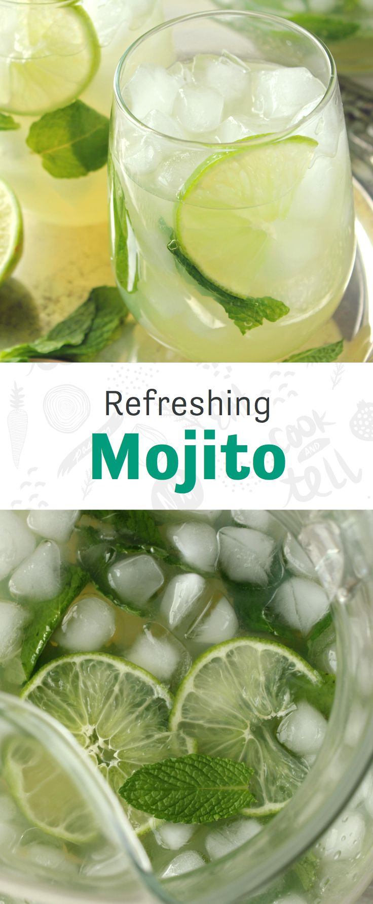 This mojito recipe comes by the pitcher. You're welcome.