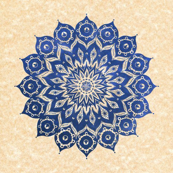 ókshirahm sky mandala Art Print by Peter Patrick Barreda  http://society6.com/product/kshirahm-sky-mandala_Print