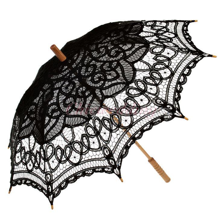 Vintage Victorian Lace Wedding Sun Parasol Umbrella for Bridal Photo Decoration #ParasolUmbrella