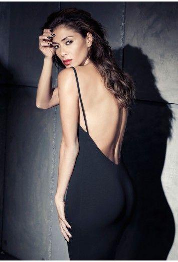Missguided - Nicole X Low Back Strappy Midi Dress Black