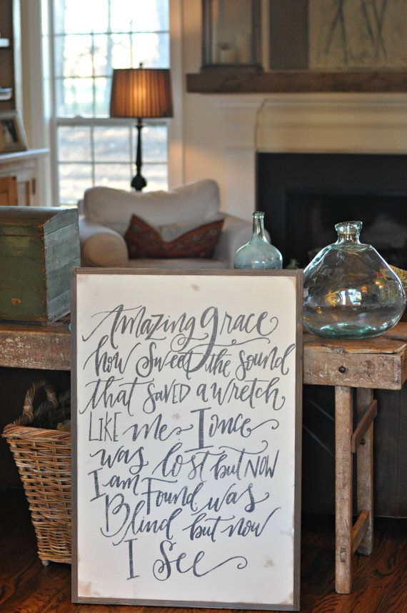Amazing Grace sign by BetweenYouAndMeSigns on Etsy