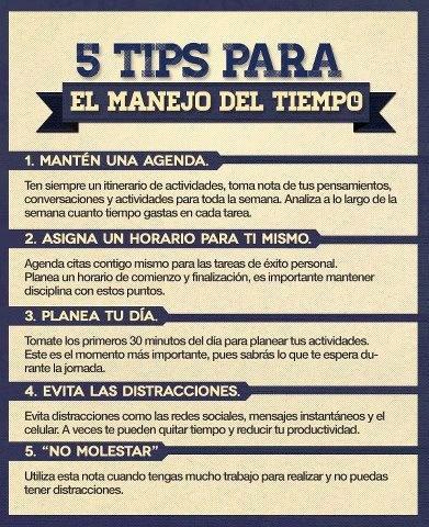 5 Tips para el Manejo del Tiempo!                                                                                                                                                                                 Más