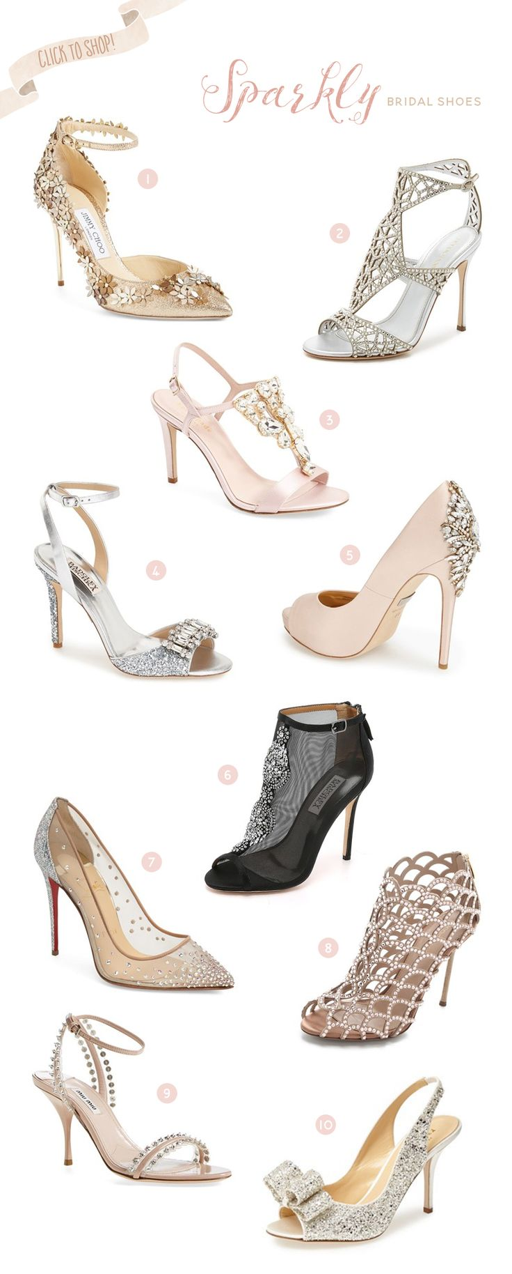 Every girl sparkles in their own way, and the best way to unleash your inner sparkle on the wedding day? Wedding Shoes! We're head-over-sparkly-heels in love with these absolutely stunning bridal shoes we're about to introduce! Get ready to shop and say, here comes the stylish bride! JavaScript is currently disabled in this browser. …