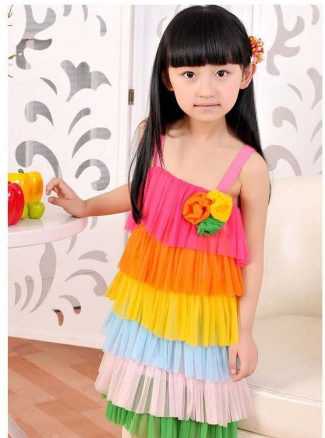 Gorgeous rainbow dress                                #fashion #outfits