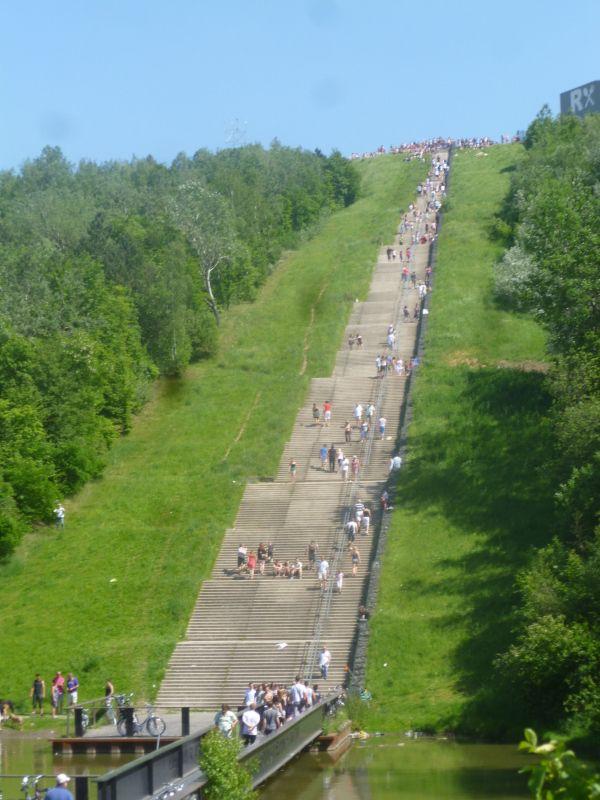 Langste trap v Nederland. De Wilhelminaberg te Landgraaf.