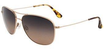 Maui Jim Cliff House Hs247 16 Gold Aviator Sunglasses.