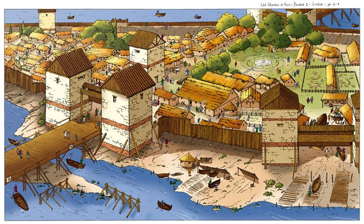 Celtic Oppidum with wooden walls... The main features of the oppida are the walls and gates, the spacious layout, and usually a commanding view of the surrounding area. The major difference with earlier structures was their much larger size. Earlier hill forts were mostly just a few hectares in area, whilst oppida could encompass several dozen or even hundreds of hectares. They also played a role in displaying the power and wealth of the local inhabitants and as a line of demarcation…