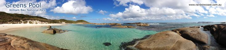 Greens Pool panoramic photograph William Bay National Park Denmark, Western Australia