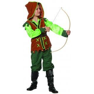 Peter Pan Groene Peter ( Suedine / Satijn) Jongen Kostuum