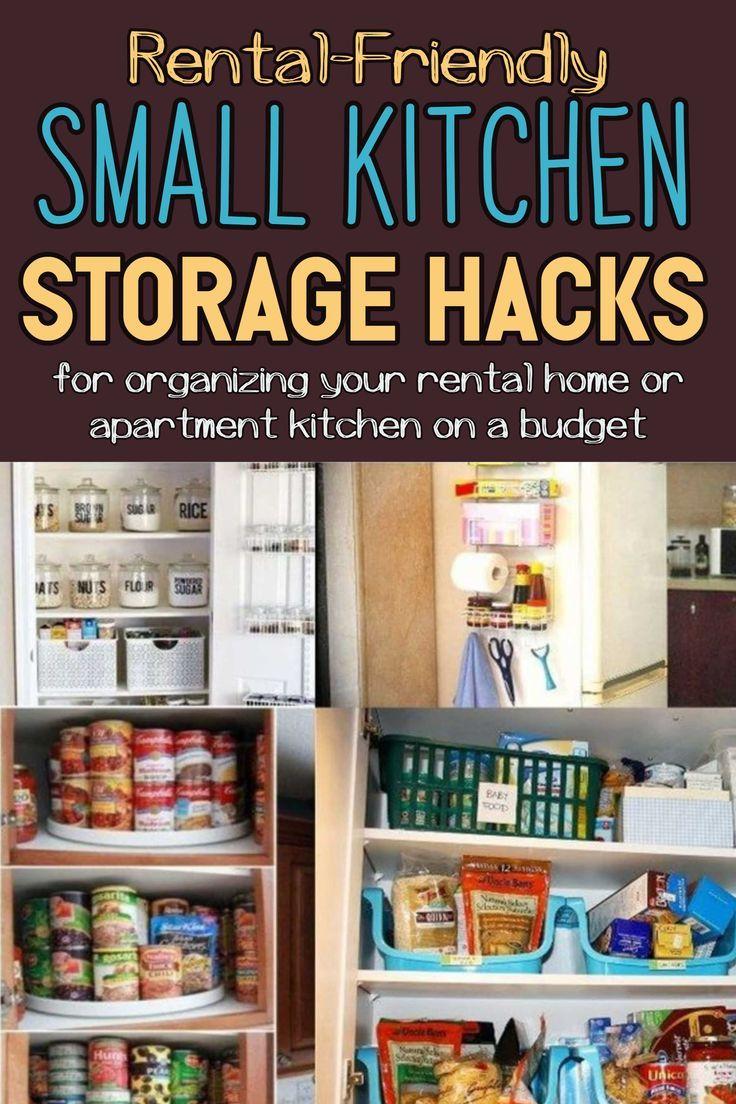 Small Apartment Kitchen Storage Ideas That Won T Risk Your Deposit Small Apartment Kitchen Storage Ideas Kitchen Storage Kitchen Storage Hacks
