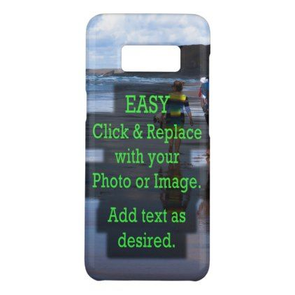 Simple Click and Replace Image to Create Your Own Case-Mate Samsung Galaxy S8 Case - simple gifts custom gift idea customize