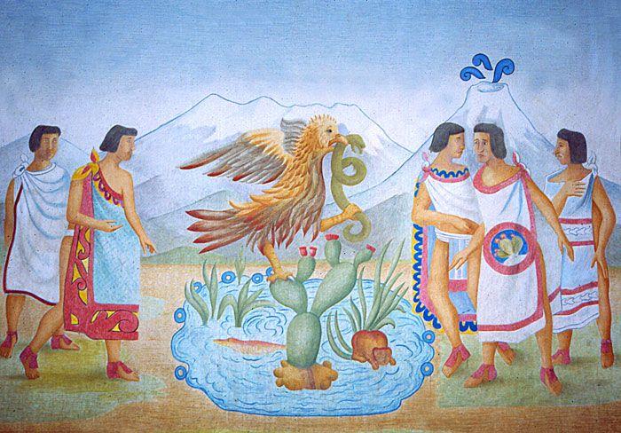 #UnDíaComoHoy 13 de Marzo de 1325 al terminar su larga peregrinación los mexicas fundan la gran Tenochtitlán, capital de su imperio, en el lugar que según la leyenda, les había señalado su dios Huitzilopochtli.