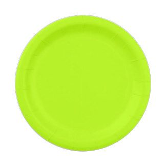 Neon Lime Paper Plate 7 Inch Paper Plate