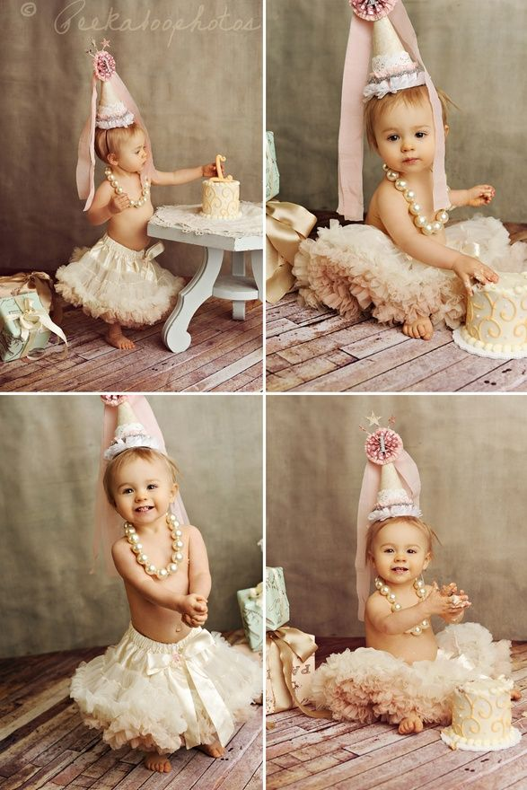 Chloes 1 year cake smash picture idea! SO cute!