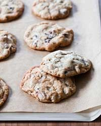 Nutty Chocolate Chip Cookies : This recipe, with its crisp crinkly top and chewy center, is both chewy and crispy |Food & Wine