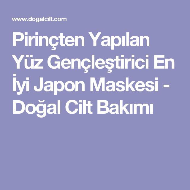 Pirinçten Yapılan Yüz Gençleştirici En İyi Japon Maskesi - Doğal Cilt Bakımı