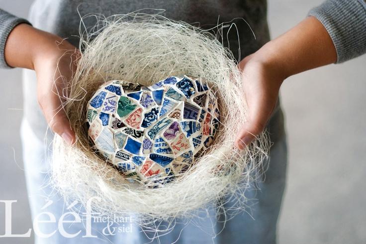 Mosaik hart/ Fotograaf: Candice Askham