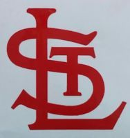 """STL St. Louis Cardinals Car Decal Sticker 3"""" Red Perfect for Yeti cups"""