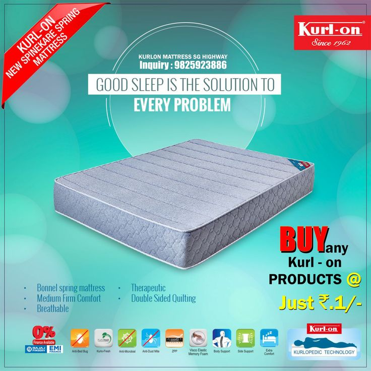 Mattress On Easy EMI With PILLOW