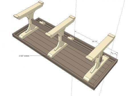 Great Triple Pedestal Farmhouse Table Plans
