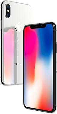 Introducing iPhone Ten. Available in Space Gray and Silver. It features the Super Retina Display, Face ID and wireless charging. Learn more at apple.com.