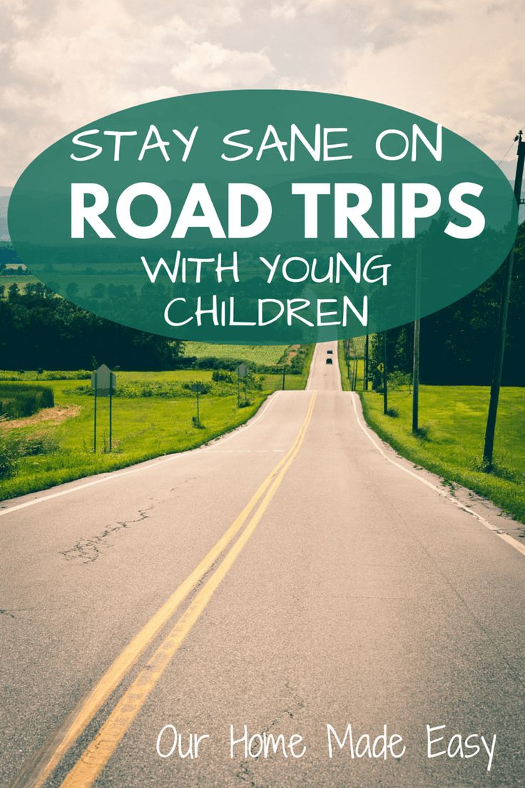 Tips for traveling with kids on day long road trips! Keep your sanity and remember to pack all that you need!