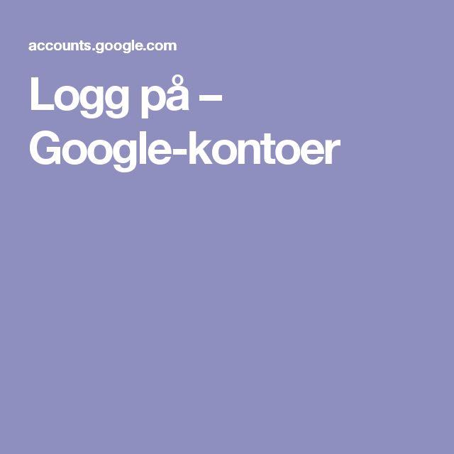 Logg på – Google-kontoer