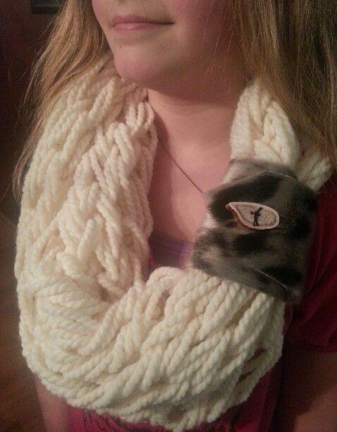 Sealskin scarf cuff with Caribou antler button
