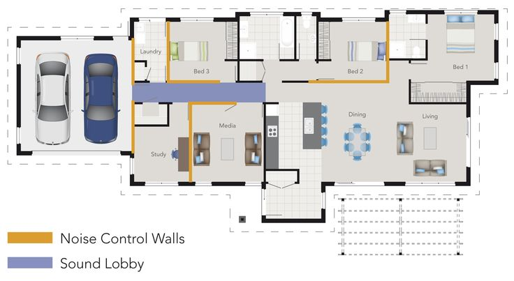 Are there areas of your home that could do with noise control?  You can specify noise control on your building plan with G.J.'s. >Plan from an early stage. >Decide which areas are likely to be noisy and which areas need to be quiet. >Identify which rooms or walls need noise control. >Mark these on your plan and talk to your builder.