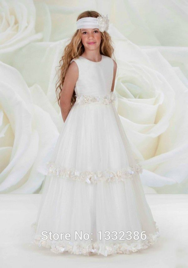 Cheap dresses large, Buy Quality floor length summer dress directly from China floor length maxi dresses Suppliers:  Vestidos de Primera Comunion Crew Neck Two Layers Floor Length White Dresses for First Communion   Welcome to our shop
