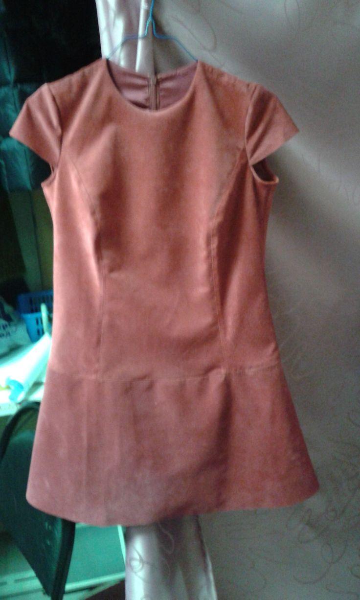 Платье из замши