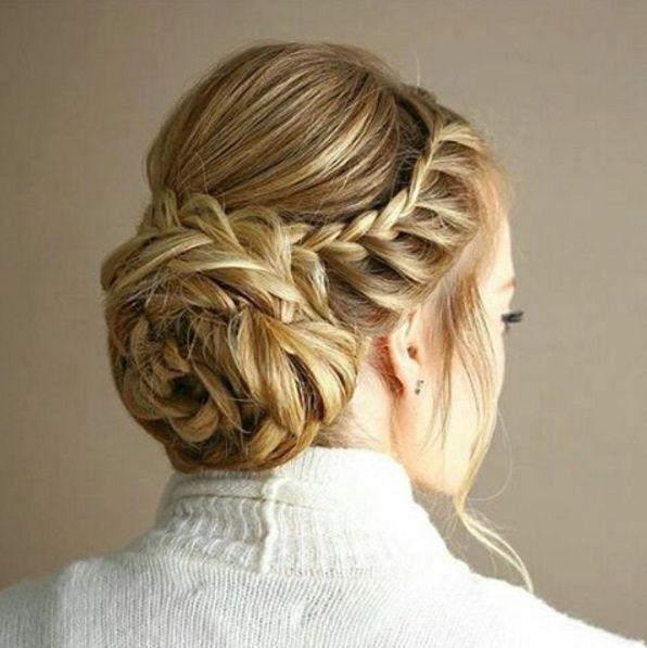 вечерние прически на длинные волосы косы