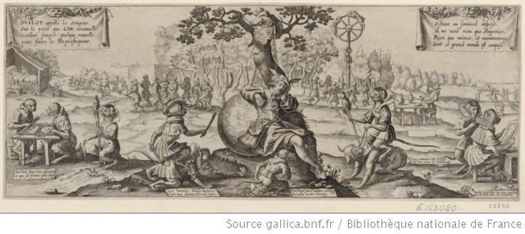 [Un homme endormi sous un arbre est entouré de singeries de toute espèce] : [estampe] - 1http://gallica.bnf.fr/ark:/12148/btv1b8402242q