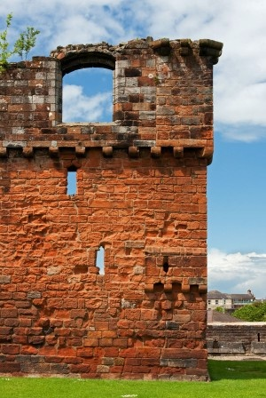 Ruins of the 14th century Penrith Castle in Cumbria, England