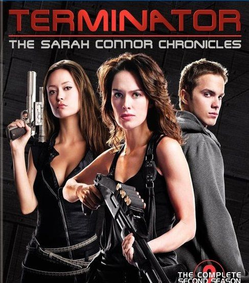 Sarah (mom),Cameron (Summer Glau -a terminator) & Kyle Reese (uncle) try to protect John Connor from T2 units sent back from the future to kill him. Guns carried in this series don't need safetys. Two seasons, 1012 minutes.