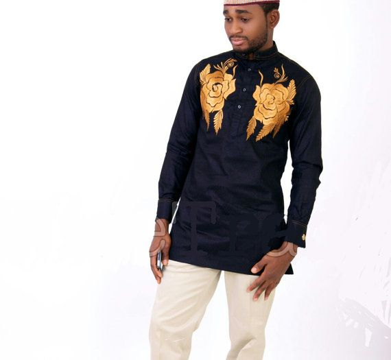 African Embroidered Mens Wear for all sizes. Made to order. All our outfits are tailored from scratch creating the flexibility for our clients to
