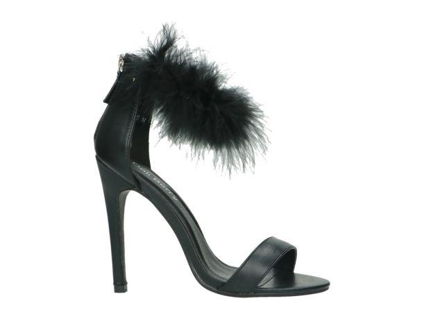 Fluffy faux fur Sandaal DOLI BERRY 243040 JM-65 BLACK | JM-65 BLACK | BERCA.BE | Schoenen online kopen | Gratis verzending | Niet tevreden, Geld Terug | 100% Veilig | Zeer grote keuze