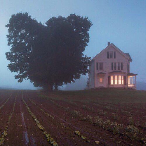 oldfarmhouse: Foggy Morning Image via We Heart It...