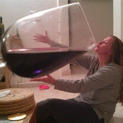 Bottoms Up. I told you Di, I only have one glass a day!