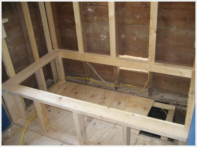 Construct A Frame For Tub Deck Surround Google Search How 2 Diy Pinterest Bathtub And Bathroom