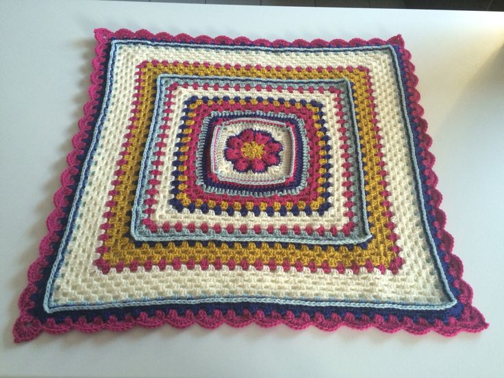 African Violet Granny Square blanket for Baby Hannah. (Stylecraft limited edition colours)