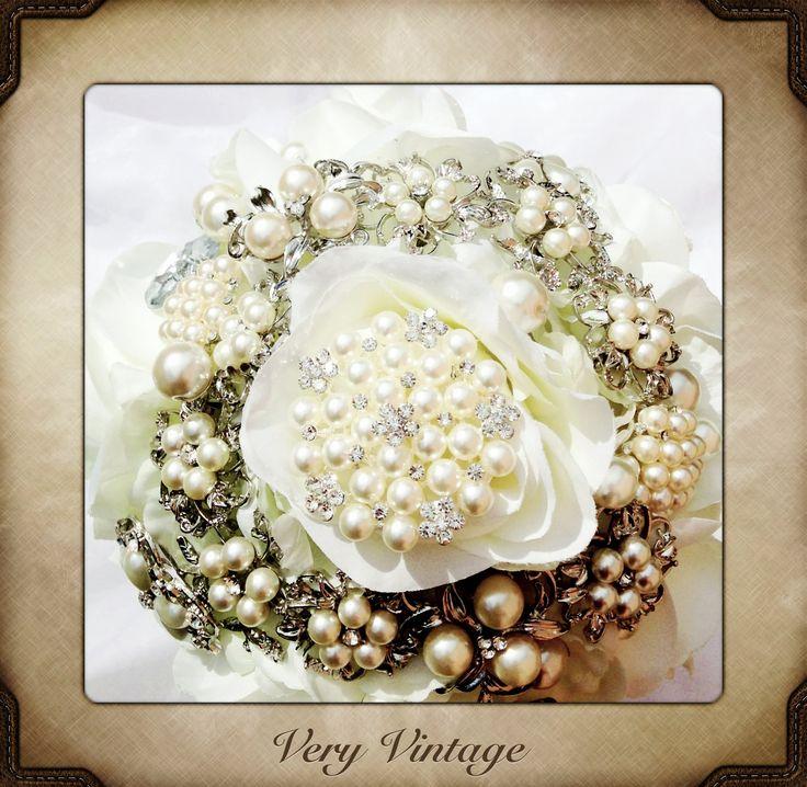 Very Vintage Brooch Bouquet