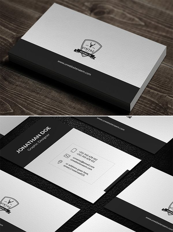 Simple Creative Business Card Business Cards Creative Minimal Business Card Minimalist Business Cards