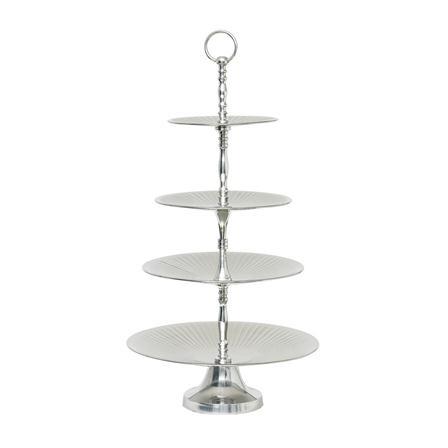 Lisbeth Dahl 4 Tier Silver Cake Stand