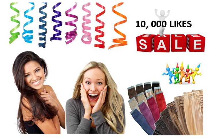 We reached 10,000 likes on Facebook - so we are celebrating with a massive sale on clip in hair extensions, tape in hair extensions and accessories www.hollywoodglamour.co.nz
