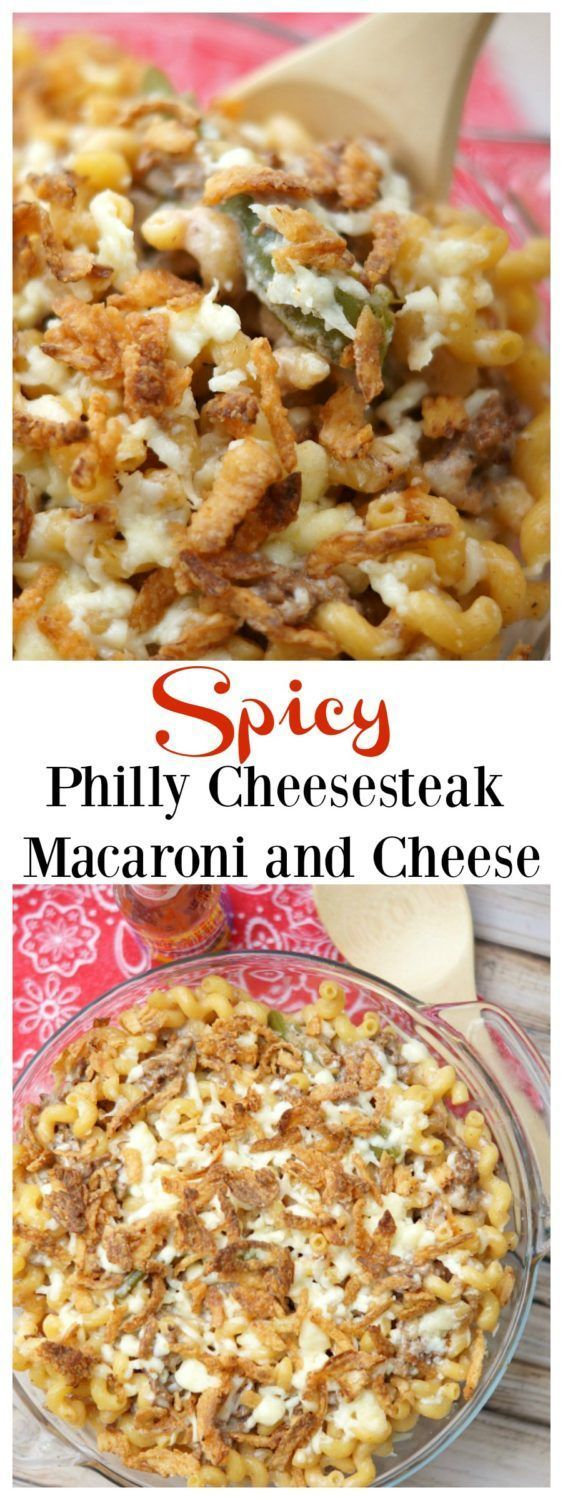 Spicy Philly Cheesesteak Macaroni and Cheese #kingofflavor /elyucateco/ ad