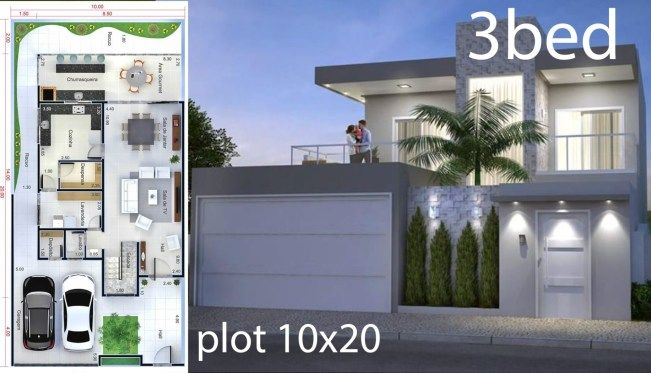 Home Design 5x25 Meters Home Design With Plan Home Design Plan House Design Home Design Plans